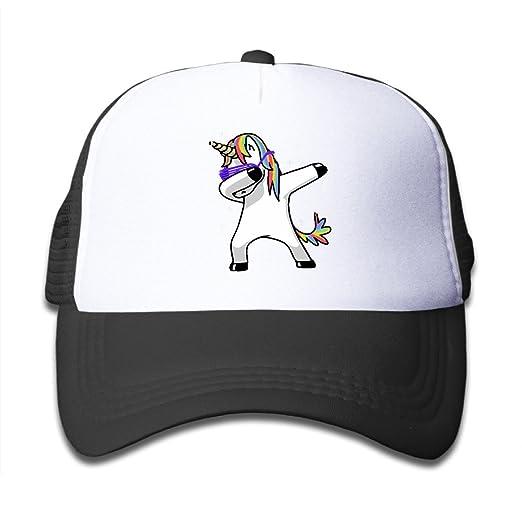 468274256fa30 Amazon.com  Dabbing Unicorn Baseball Hat Adjustable Back Mesh Cap For  Toddler  Clothing