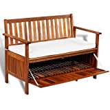 Amazon Com Wooden Shoe Bench With Dark Brown Faux Leather