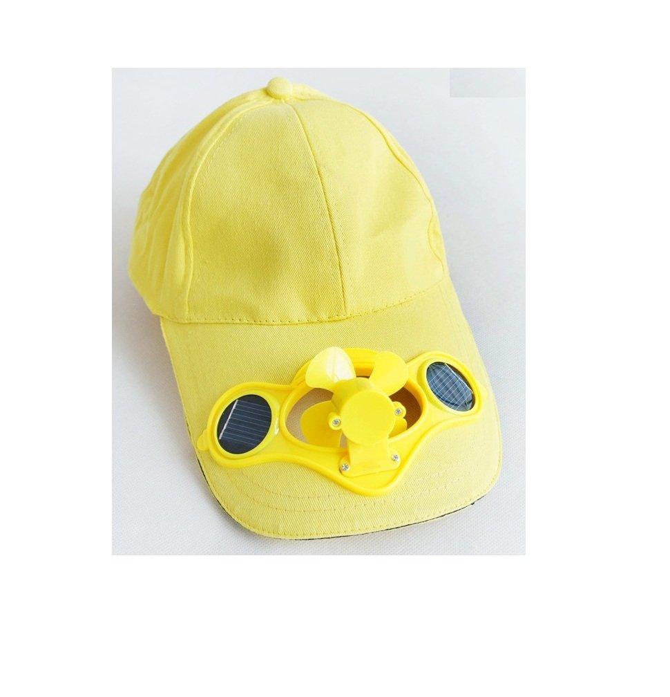 in the Dream - Gorro de béisbol con Ventilador Solar Amarillo Amarillo: Amazon.es: Hogar