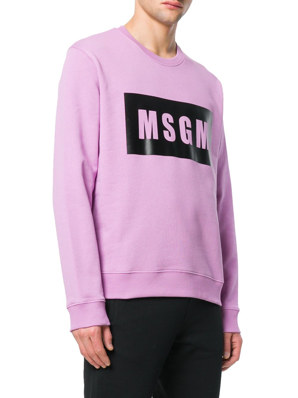 MSGM Men's 2440Mm6818429872 Purple Cotton Sweatshirt