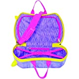 Single Piece Bright Purple Rolling Briefcase For