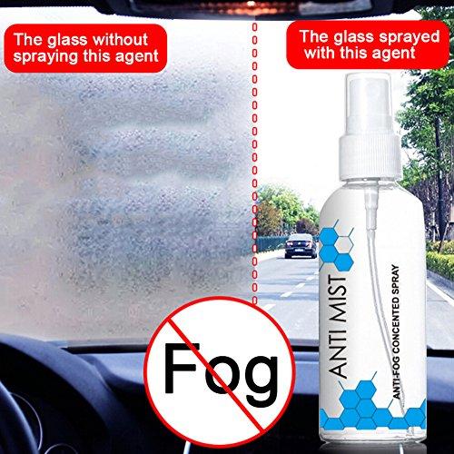 blue--net Anti-fog Agent for Automotive Glass, Glass Antifoggant Glass Defogging Agent Car Rearview Mirror Window Defogger Interior Windshield Antifogging Agent 100ml
