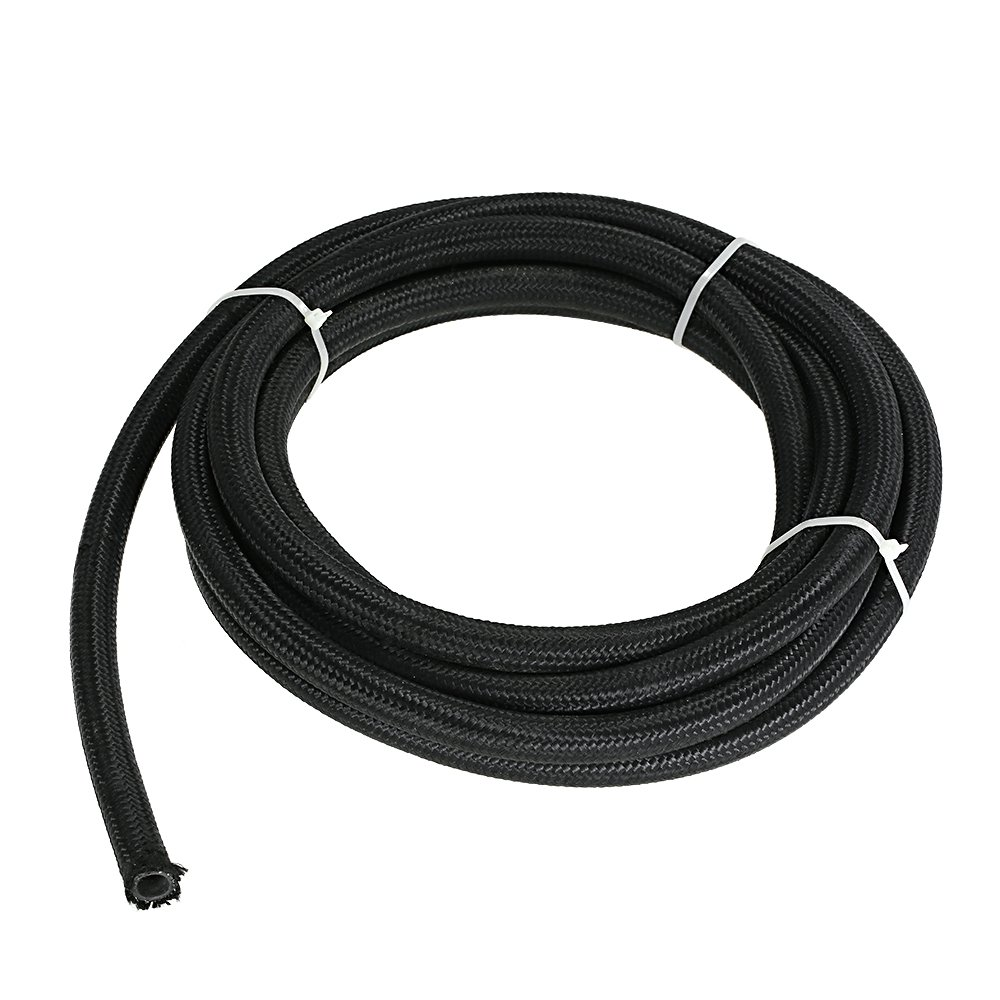 Rubber Reinforced Fuel Hose // PVC Braided Pipe for Petrol Water ⌀ 8mm 10m Diesel etc