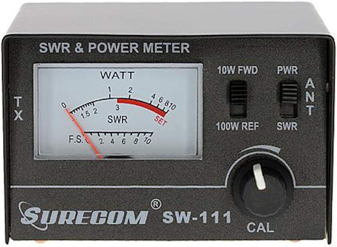 Mcbazel Surecom SW-111 100 Watt SWR//Medidor de Potencia para CB Radio Antenna