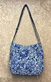 quilted fabric handbags for women - Waverly Womens Printed Quilt Bag Collection Hobo Blue Paisley Handbag