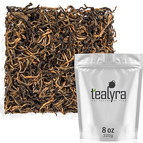 Tealyra - Yunnan Golden Special - Black Loose Leaf Tea - Best Chinese Black Tea - Organically Grown - Perfect Morning Tea - 220g (8-ounce)