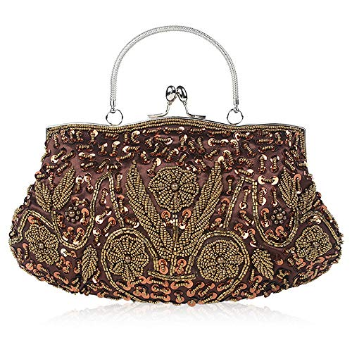 Kleine onder dames Dames Kralen Bag kleur vintage handgemaakte A101 gewicht Clutch jurk Avondtassen A105 borduurwerk het vSRwtcqx