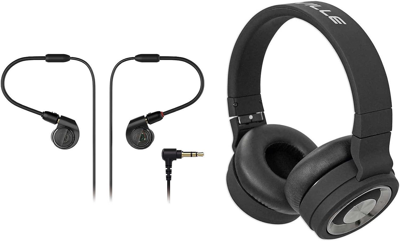 Audio Technica ATH-E40 Pro in-Ear Monitor Mini Earphones + Bluetooth Headphones