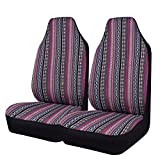 CAR PASS Rainbow Ethnic Style Universal Fit Car Seat Covers, fit for Most of suvs,sedans,Trucks,sedans (Two Front Seat)