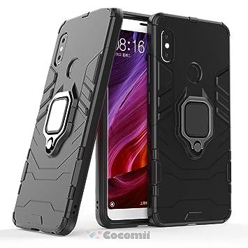 Cocomii Black Panther Armor Xiaomi Redmi Note 5/Note 5 Pro Funda NUEVO [Robusto] Anillo Metálico Soporte [Funciona Con El Montaje De Coche Magnético] ...