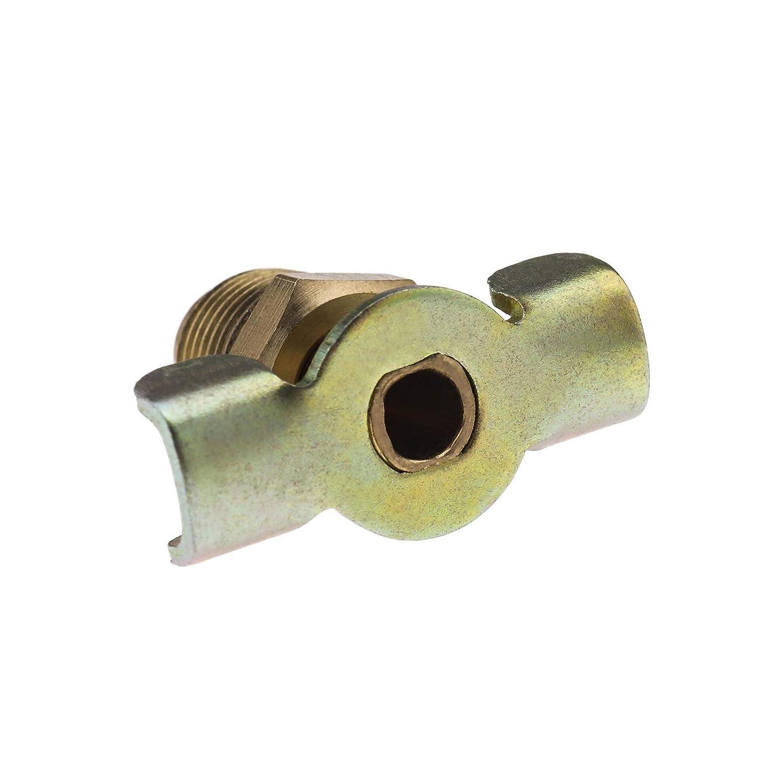 2-teiliger Ablasshahn f/ür Hotdog Luftkompressor Abgasentl/üftungs Drehsteuerung Messing 1//4