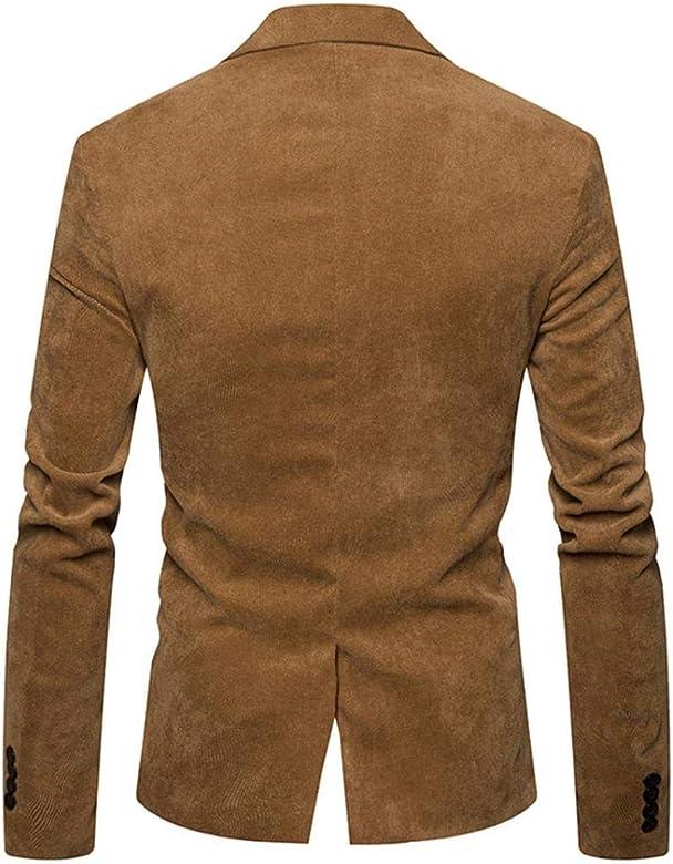 Herren Sakko Anzugjacken Herbst Winter Casual Cord Slim Fit Langarm Mantel Anzug Jacke Classic Blazer Retro Business Anzug Kurzmantel Hochzeit Party