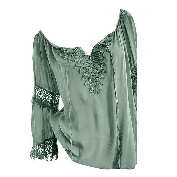 DE Damen Langarm Übergröße Locker Bluse Tunika Lässig Oberteil Top T-shirt Hemd
