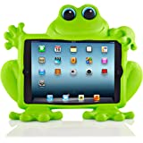 Koooky Eddie the Frog Childrens Green Apple iPad Mini Tablet Case - Drop, Shock and Scratch Resistant tablet case with car headrest travel attachment - for Apple iPad Mini, Mini Retina, Mini 2, Mini 3