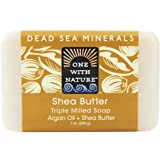 One With Nature Shea Butter Dead Sea Mineral Soap, 7 Ounce Bars (Pack of 6)