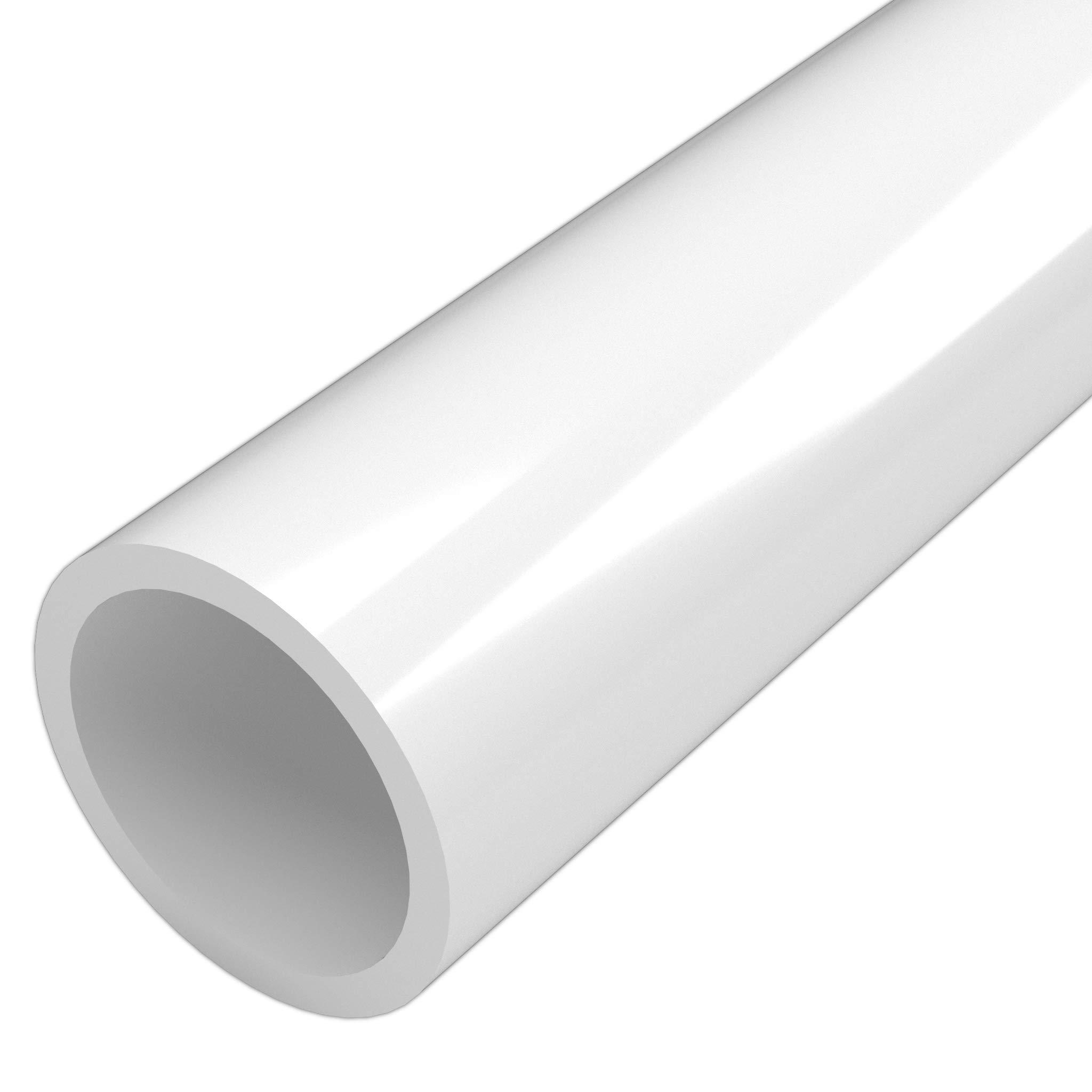 FORMUFIT P112FGP-WH-5 Schedule 40 PVC Pipe, Furniture Grade, 5', 1-1/2'' Size, White
