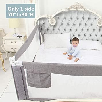 Extra Long Side Safety Bed Rails Rail For Full Queen Kids Toddlers Guard Bedrail