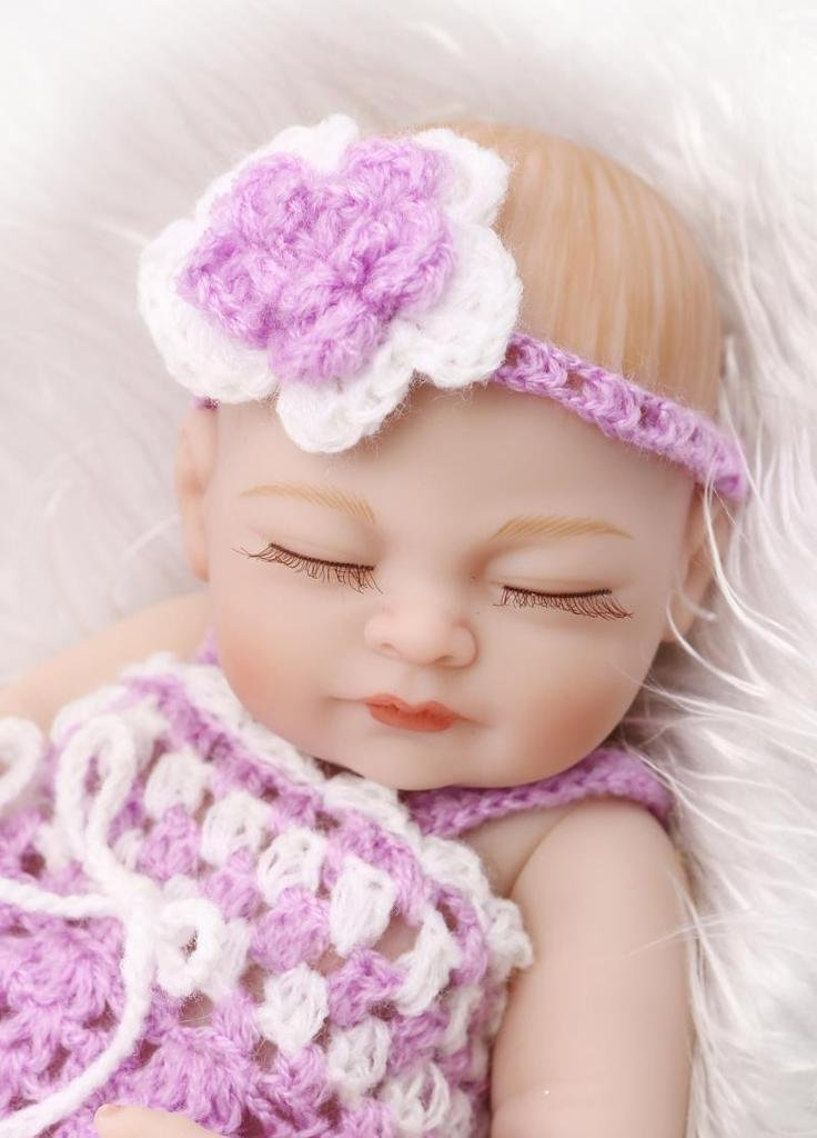 TERABITHIA Miniature 11 Real Life Beautiful Dreamer Newborn Baby Doll Full Silicone Vinyl Collectible Toys for Girl