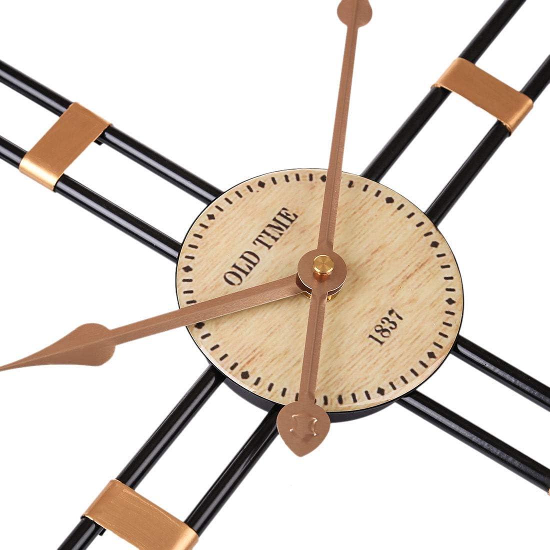 Bureau Chambre Bar Caf/é Jo332Bertram 50cm Horloge Murale en M/étal Style Pendule Murale Silencieuse Murale D/écoration pour Salon Blanc