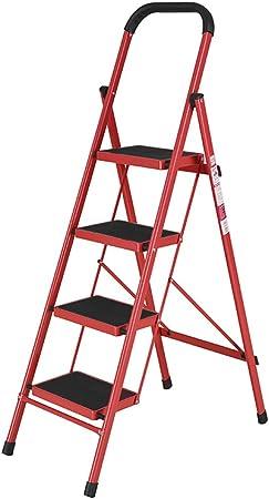 ZZHF tideng Escalera Plegable de Acero Escalera Plegable de Acero Escalera móvil de Tres o Cuatro escalones 5 Colores Opcional (Color : E): Amazon.es: Hogar