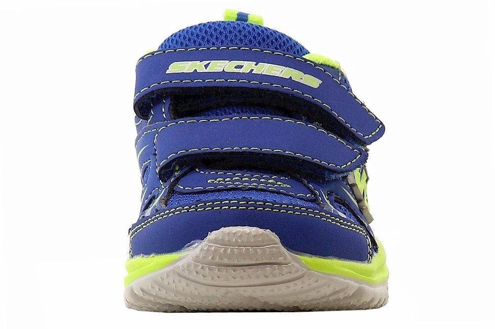 Skechers Kids 95083N Speedees - Burn Outs Sneaker,Blue/Lime,6 M US Toddler by Skechers (Image #2)