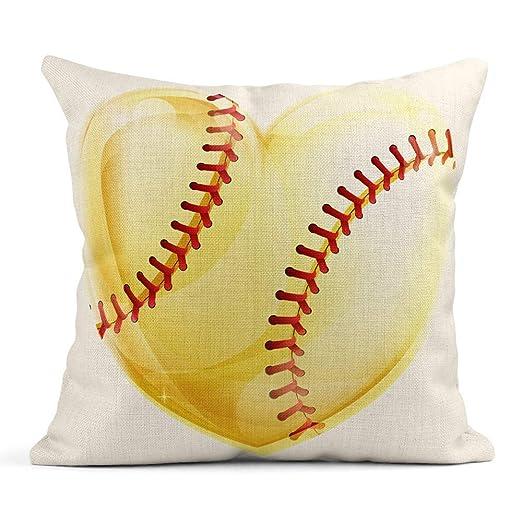 Ale haung Funda de Almohada Cinta de béisbol de béisbol en Forma ...
