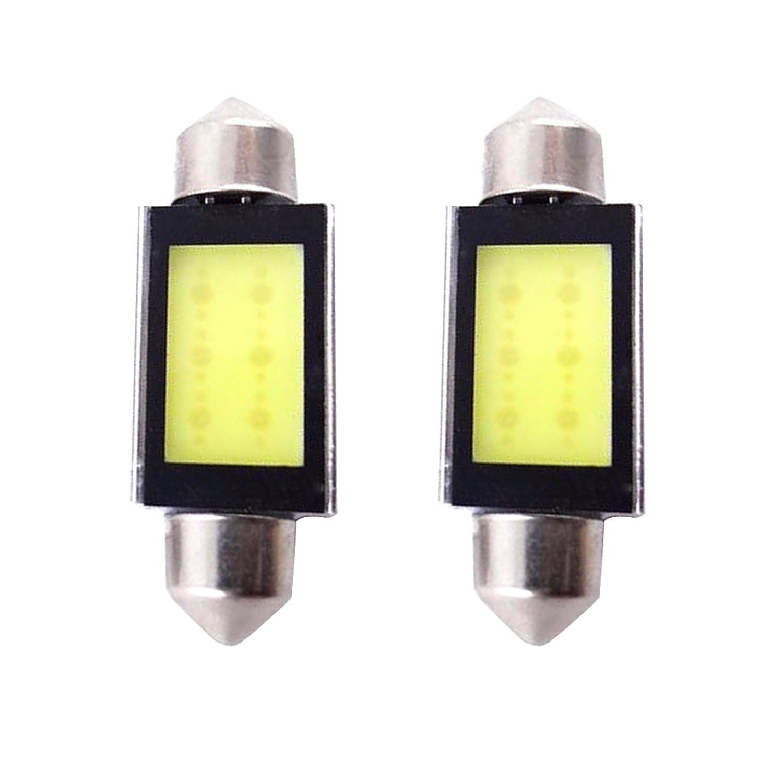 Alftek 2 Morceaux Xenon Blanco Coche COB 6418 C5W 3 W LED 12V Auto Lampe de Lecture de Voiture LED