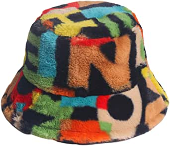 Chapéu de pescador estampado de pelúcia, da Kesyoo