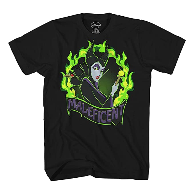 Disney Maleficent Fire Flame Villain Sleeping Beauty Mens T Shirt