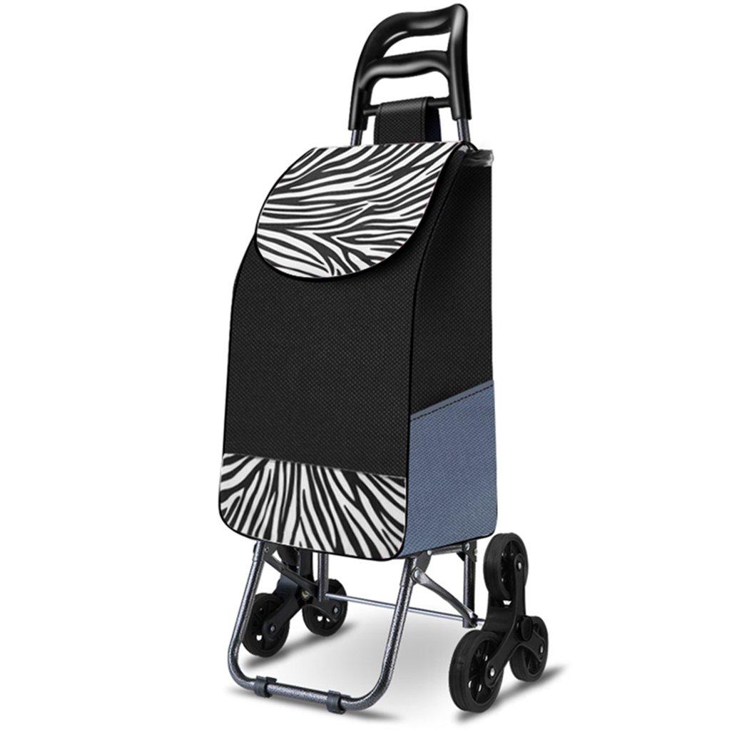 KTYX ショッピングカート、老人、ショッピングカート、小型カート、トロリー、折り畳みトレーラー、トロリー、家庭、ポータブルを登る トロリー   B07H4LPPW8