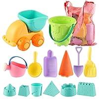 Deals on MINGPINHUIUS Kids Beach Toys Toddlers Beach Sand Toy Set (14 pcs)