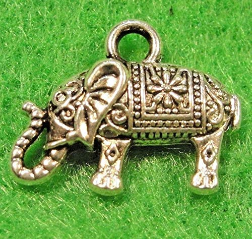 Charm - Jewelry - Pendant - Silver Elephant 3D Detailed 50 pcs