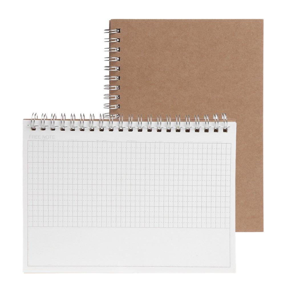 Baiyao - Agenda semanal semanal, agenda en blanco, diario de bricolaje, cuaderno de estudio, papel ecológico, mensual, diario y semanal, color marrón ...