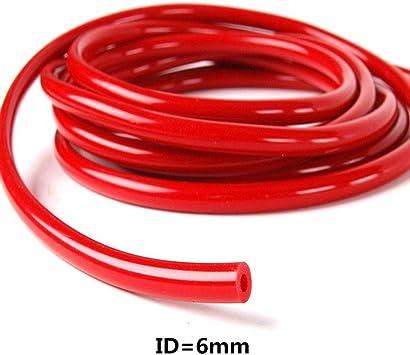 ID=3mm//4mm//6mm//8mm Silicone Silicon Vacuum Hose Turbo Dump Radiator Rubber Air Vac Pipe 1M MM4-BU