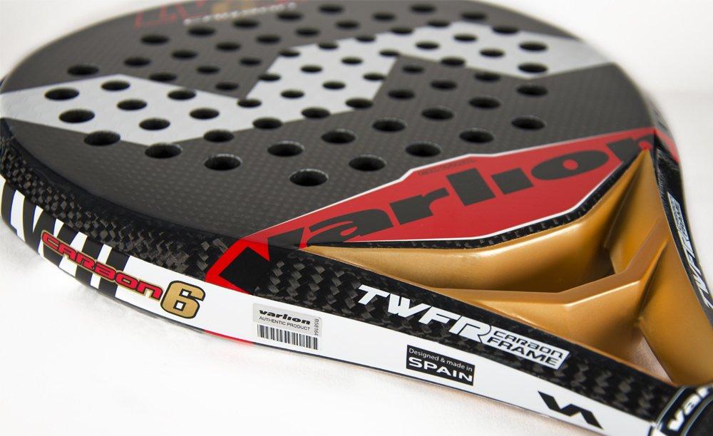 Varlion LW H Carbon 6 - Pala de pádel, Unisex Adulto, Rojo/Dorado, 335-340 gr.: Amazon.es: Deportes y aire libre