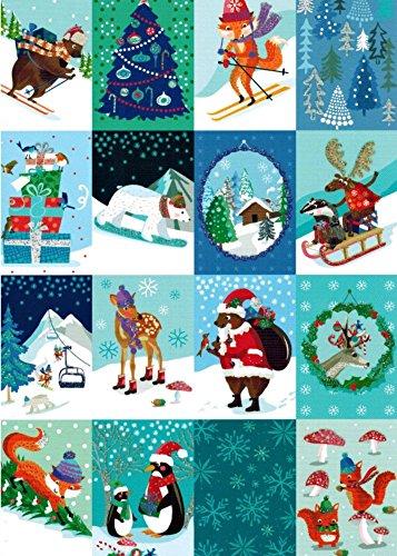 Roger la Borde Chalet Checkboard Boxed Christmas -