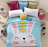 Auvoau Boho Style Bedspread Bohemian Bedding Girl Bedding Bedspread Boho Style Quilt (Queen, 5)