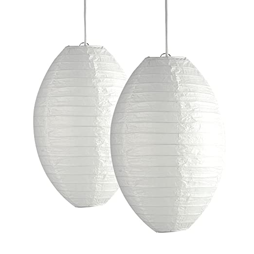 Pair of ambient modern white acorn shaped chinese paper lantern pair of ambient modern white acorn shaped chinese paper lantern ceiling pendant lamp shades aloadofball Image collections