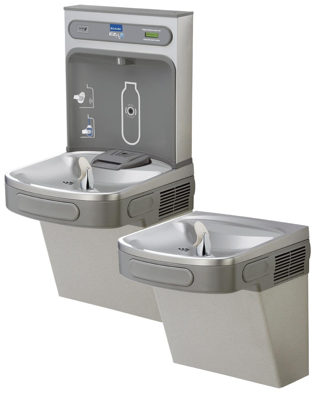 EZH2O ADA Compliant 2 Station Drinking Fountain with Bottle Filling Station  - Water Dispensers - Amazon.com