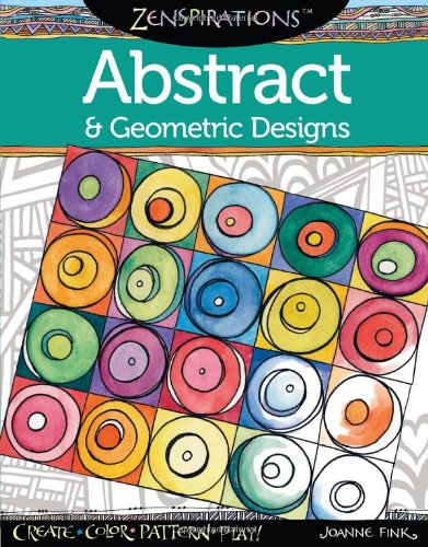 Zenspirations Coloring Abstract Geometric Designs