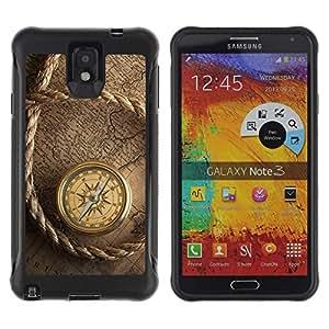 Suave TPU GEL Carcasa Funda Silicona Blando Estuche Caso de protección (para) Samsung Note 3 / CECELL Phone case / / Captain Ship Navigation Compass Vintage /