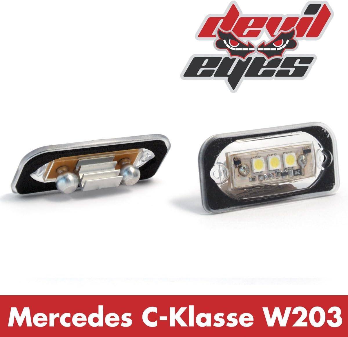 E-Gepr/üft und Eintragungsfrei R.D.I Deutschland Autoteile 610775 Devil Eyes 610775 LED KennzeichenbeleuchtunC-Klasse Limousine