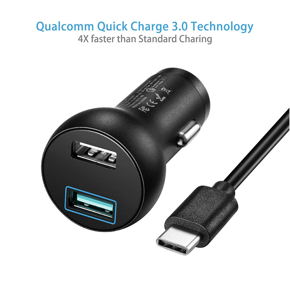 Quick Charge 3.0 Fast Car Charger Compatible Samsung Galaxy S9 S9+ Plus Moto Z//Z Force Droid TPLTECH GS-C0066 S8 Active,Note 8 Z3 Z2 Play//Z2 Force LG G7 V30S V35S Thinq V30 V20 G6 G5 Moto X4 Moto One//One Power