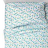 Pillowfort Microfiber Island Tropical Terrific Sheet Set - Twin (3 Pieces) Fun Floral Leaves Sheet Set for Kids Children Guest Bedroom