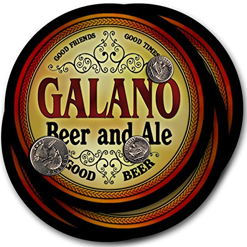 Galano Beer & Ale - 4 pack Drink Coasters, used for sale  Delivered anywhere in USA