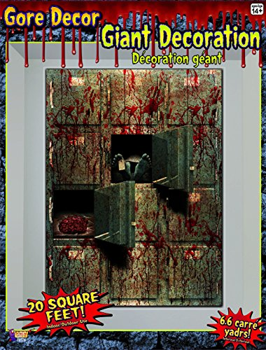 Gore Morgue Haunted House Decor Wall Giant Decoration Blood Corpse Brains New (Haunted House Prop Ideas)
