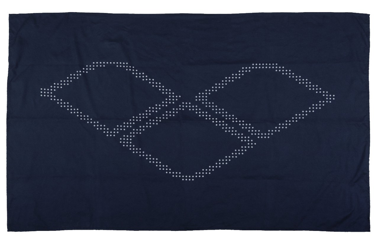 Navy//White Arena Halo Training Microfiber Towel