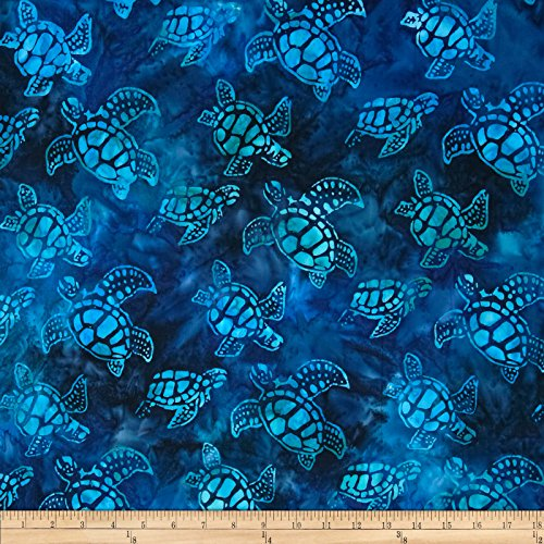 Tropical Turtle - Artisan Batiks Totally Tropical Small Turtles Regatta Fabric By The Yard
