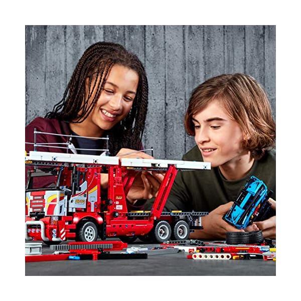 LEGO - Technic Bisarca con Auto da Trasportare,Modello 2in1,Set di Costruzioni Avanzato, 42098 3 spesavip