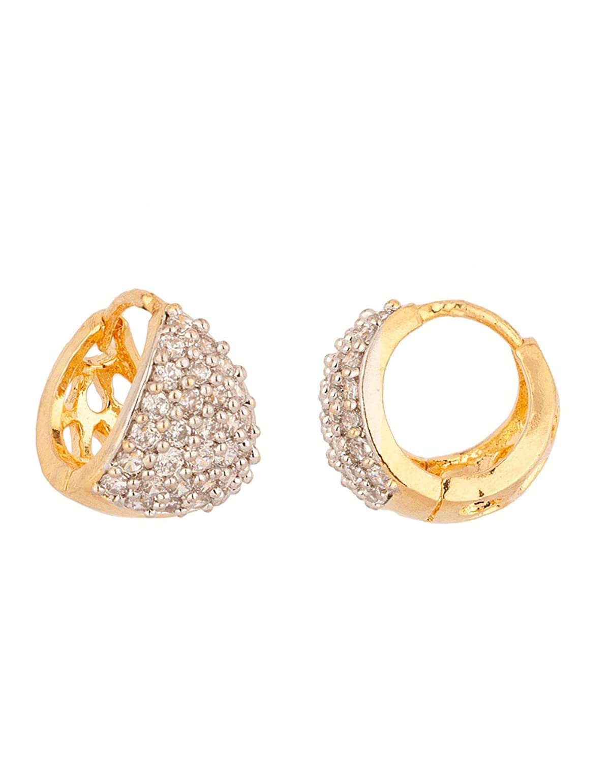 Buy Voylla Gold-Plated Hoop Earring For Women (Gold) Online at Low ...